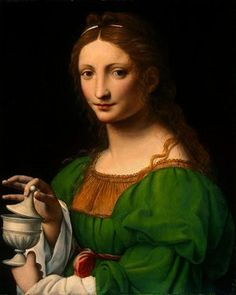 the Magdalene with her jar of blessing...
