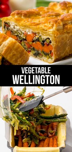 Vegetables Wellington is a beautiful vegetarian main dish option for the holidays - kitchendales - Vegetarian Recipes Thanksgiving Vegetarian Dishes, Vegetarian Main Dishes, Vegetarian Recipes Dinner, Thanksgiving Vegetables, Veggie Main Dishes, Thanksgiving Holiday, Christmas, Vegetarian Recipes Videos, Vegetable Recipes