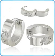 stainless steel earrings wholesale with pattern and crystal