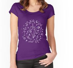 Space Unicorn Women's Fitted Scoop T-Shirt