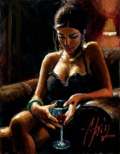 Fabian Perez Tess IX painting for sale online outlet, painting Fabian Perez, Illustrations, Illustration Art, Local Art Galleries, Wine Painting, Woman Wine, Wine Art, Mystique, Art For Art Sake