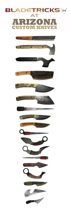 A selection of new Bladetricks tools is available at Arizona Custom Knives. Custom tomahawks, knives, karambits and kiridashis for our overseas customers. More tools will be available in the following weeks.