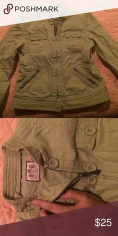 Collared juicy jacket, kids size Juicy tan jacket, kids size 12, barely worn Juicy Couture Other