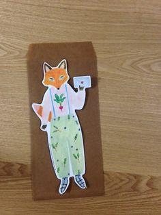 Card (Fox) by Japanese illustrator Aiko Fukawa