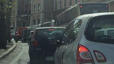 Sottopasso Lungotevere in Sassia riaperto e traffico tornato alla normalità. Sul posto gli agenti della Polizia Roma Capitale.