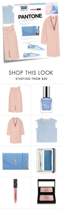 """""""No 283:Pantone color of the year 2016"""" by lovepastel ❤ liked on Polyvore featuring ...Lost, J.Crew, DKNY, Marc by Marc Jacobs, Burberry and Bobbi Brown Cosmetics"""