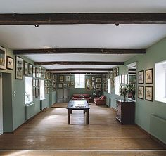 Merriscourt wedding venue the Gallery is a large bright barn, ideal for drinks receptions