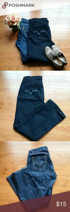 Levis 8M boot cut jeans ??Description : bundle of 529 curvy boot cut blue and perfectly slimming 512 boot cut. Both the jeans have two side and two back pockets. ??Material : denim.  ??Color : 529 blue 512 black.  ??Condition: Gently used l No damage l No stains l No holes. ??Measurements will be provided on request.  ?? Discount with 2 plus bundles. No trades ?? Levis  Jeans Boot Cut