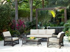 Kensington Outdoor Four Piece Wicker Seating Set