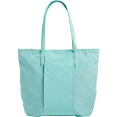 Vera Bradley Preppy Poly Tote Tote (€100) ❤ liked on Polyvore featuring bags, handbags, tote bags, fabric handbags, green, green purse, vera bradley tote, zip top tote bag, blue purse and zip top tote