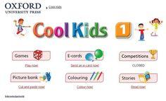 """Cool Kids. Inglés de 1º Nivel de Educación Primaria. Editorial Oxford. Materiales y actividades interactivas complementarias de Inglés de 1º Nivel de Educación Primaria, """"Cool Kids"""", de Editorial Oxford."""