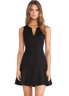 Black V Neck Sleeveless Ruffle Slim Dress 21.83
