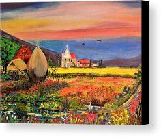Bahay Kubo canvas Print, Holy life, living close to Jesus Bahay Kubo, Philippine Art, Canvas Art, Canvas Prints, Got Print, Canvas Material, Farm Life, Art Paintings, Holi