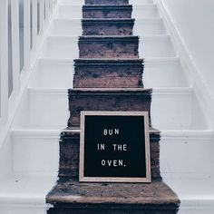 My second baby #pregnancyaccouncement using a simple letterboard and my stairs!   #babyonboard