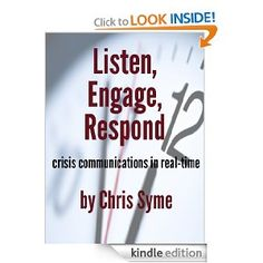 My first book is finally published! It's a great short manual on crisis communications.