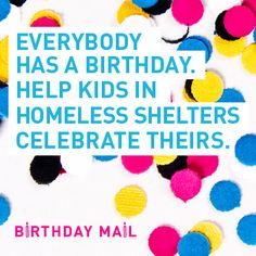 Make a birthday card for a homeless teen to show them that people DO care!
