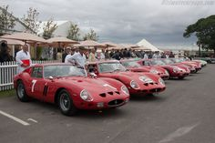 Ferrari 250 GTOs - On foreground s/n 3607GT   - 2012 Goodwood Revival