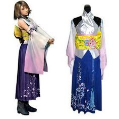 Authentic Final Fantasy Cosplay X Yuna Costume For Sell Online   USD$74.89