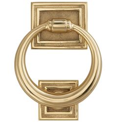 Classic Ring Door Knocker Forged Brass C4266