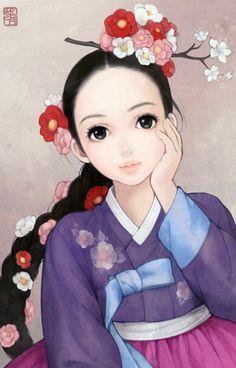 "South Korean illustrator Obsidian (also known as Huk-yo-suk) ""Rapunzel"""