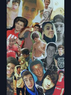 Magcon Boy Collage  (Cameron Dallas, Nash Grier, Aaron Carpenter, Shawn Mendes, Carter Reynolds, Jack Gilinsky, Jack Johnson, Matt Espinosa, Taylor Caniff)