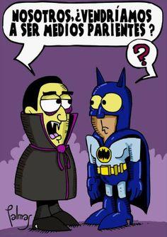Batman y Dracula @Yeimi Barbosa Barbosa Magana @Jess Pearl Liu Valerio @Nina Gonzalez Gonzalez Iturra