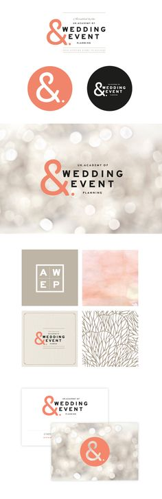 Academy of event wedding event planning brand identity