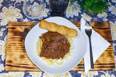 Recipe for Greek Spaghetti with Meat Sauce inspired by trip to Tarpon Springs, Florida