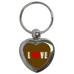 Chocolate Love Key Chain (Heart)