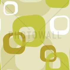 Retro Squares green - Fototapeter & Tapeter - Photowall