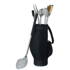 Mix Golf + BBQ to create the perfect guy gift. This golf themed BBQ tool set comes complete with golf grip handles. Product Features Mix Golf + BBQ to create Wedding Gifts For Groomsmen, Gifts For Wedding Party, Groomsman Gifts, Party Gifts, Wedding Ideas, Golf Wedding, Groom Gifts, Bridal Gifts, Wedding Favours