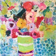 """""""Polka Dots"""" 48x48 mixed media Shain Gallery 704-334-7744"""