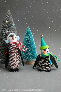 35 Creative Pinecone Christmas Crafts - Christmas Celebration - All about Christmas