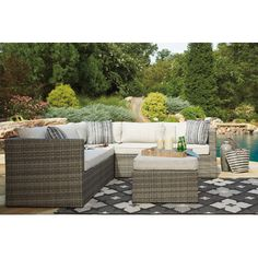 You'll love the Lake Placid Sectional with Ottoman at Wayfair - Great Deals on all Outdoor  products with Free Shipping on most stuff, even the big stuff.