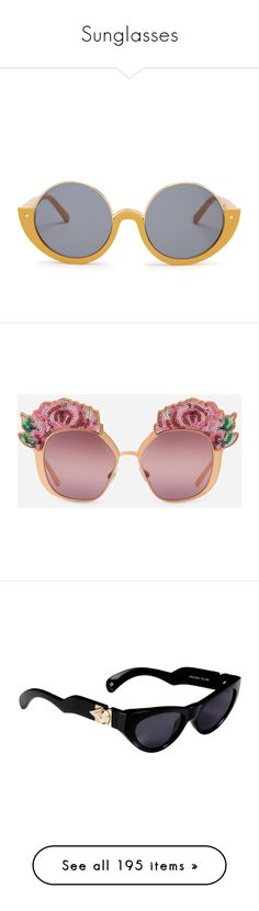 """""""Sunglasses"""" by mollface ❤ liked on Polyvore featuring accessories, eyewear, sunglasses, glasses, uv protection glasses, round frame glasses, marni eyewear, lens glasses, marni glasses and shiny pink gold with sequins"""