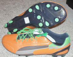 NEW PUMA EVOSPEED K FG Kangaroo Leather MENS 10.5 Orange Soccer Cleats $200 NR #adidas #Cleats