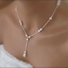 Women's European Fashion Gourd Imitation Pearls Alloy Pendant Necklace (1 Pc) – CAD $ 5.55