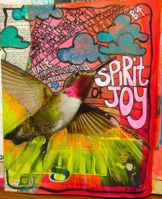 Spirit of Joy Art Journal Page (by Ravenea) from Art Journaling