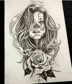 """172 Likes, 2 Comments - @mexicanstyle_art on Instagram: """"Clown girl by @murillotrevisan_arttattoo #mexicanstyle_art #payasa #art #arte #drawing"""""""