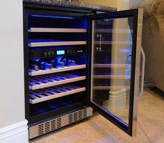 NewAir 46 Bottle Dual Zone Built-In Wine Refrigerator