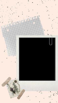 Creative Instagram Photo Ideas, Instagram Story Ideas, Photo Instagram, Polaroid Picture Frame, Paper Background Design, Cute Sticker, Instagram Frame Template, Framed Wallpaper, Photo Collage Template