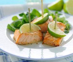 Antipasti di Pasqua: bocconcini di salmone al lime