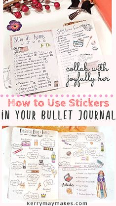 Bullet journals are all the range at the minute and have taken the planner world by storm. So how can you get a pretty layout if you really aren't that great at drawing the bujo style layouts yourself? With bujo stickers of course. Bullet Journal Cover Ideas, Bullet Journal Hacks, Bullet Journal How To Start A, Bullet Journal Layout, Bullet Journal Inspiration, Bullet Journals, Journal Ideas, Bujo, Goal Journal