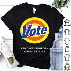 Pushing Black Vote Removes Stubborn Orange Stains Sleeveless Unisex Tank Top