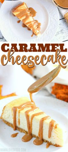 Literally my FAVORITE dessert! Creamy, rich, and so decadent, this Caramel Cheesecake is easy to make and such a delicious dessert recipe. Cheesecake Caramel, Easy Cheesecake Recipes, Pumpkin Cheesecake, Classic Cheesecake, Homemade Cheesecake, Cheesecake Bites, Dessert Simple, Köstliche Desserts, Dessert Recipes