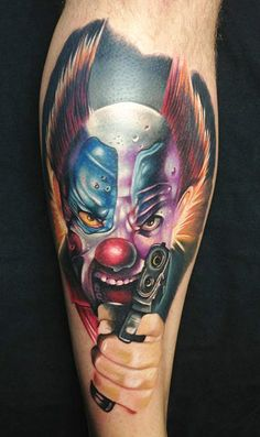 Tattoo Artist - Chris Schmidt - Clown tattoo