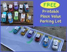 Boy Mama Teacher Mama | FREE Printable Place Value Parking Lot