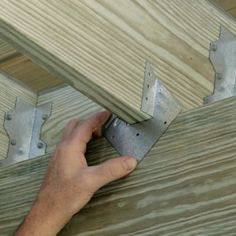 Simpson Strong-Tie Galvanized Hurricane - The Home Depot Home Building Tips, Building A Shed, Building A Deck Frame, Hurricane Ties, Deck Framing, Patio Deck Designs, Diy Shed Plans, Living Room Flooring, Decks And Porches