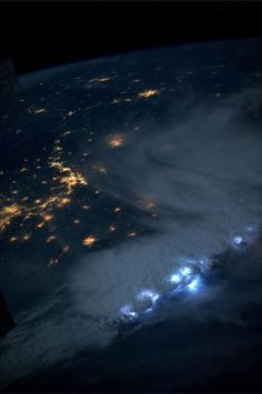 Thunderstorms from Space taken by ISS resident astronaut @AstroKarenN