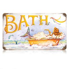 Mermaid bath sign
